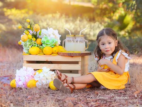 Best San Diego Baby Photographer: Lemonade Mini Summer Sessions