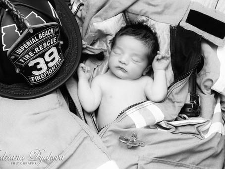 Best San Diego Newborn Photographer: FIREFIGHTER'S NEWBORN SESSION!