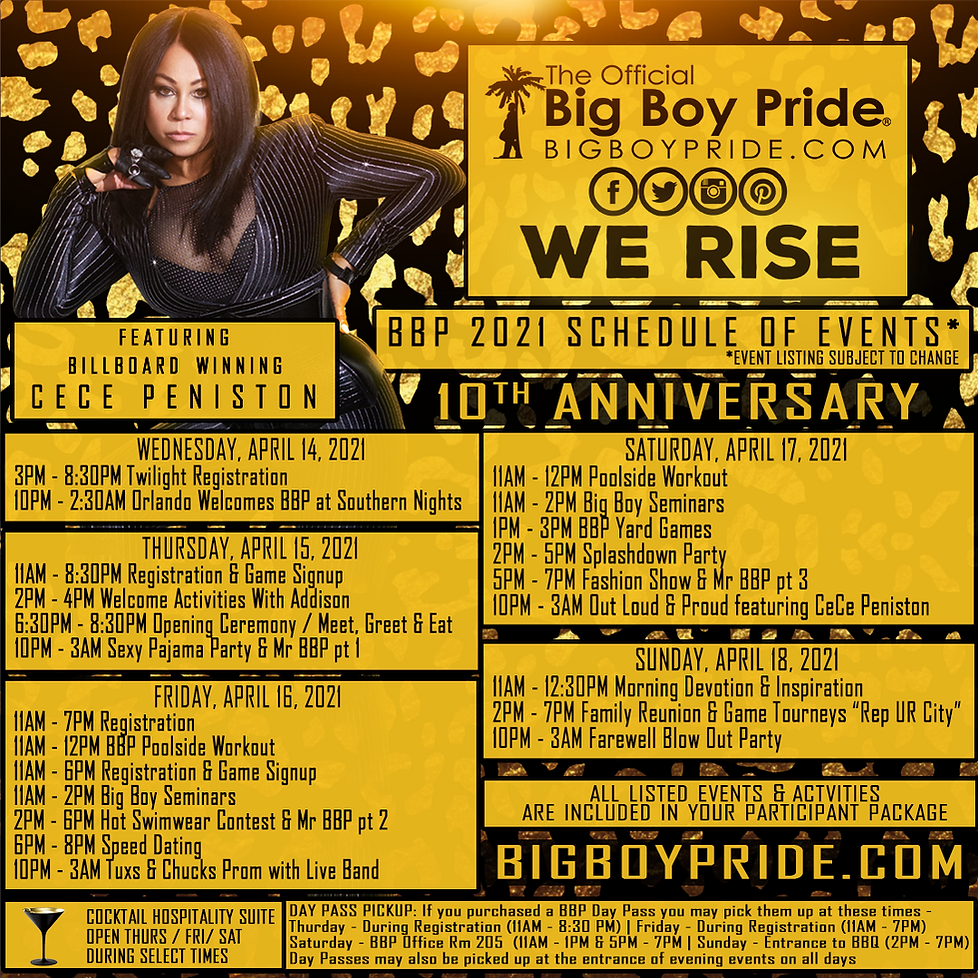 The Official Big Boy Pride 2021 Schedule