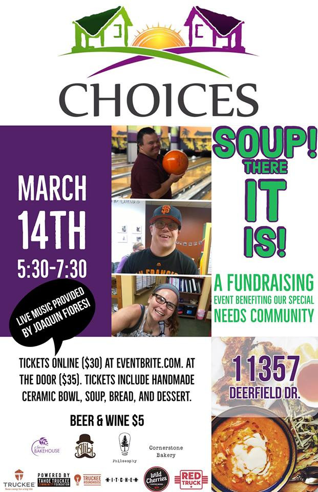 Soup! There It Is! Truckee, March 14th