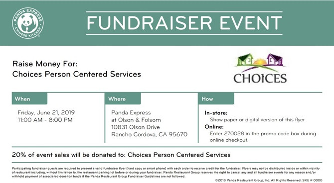Panda Express Fundraising Night!