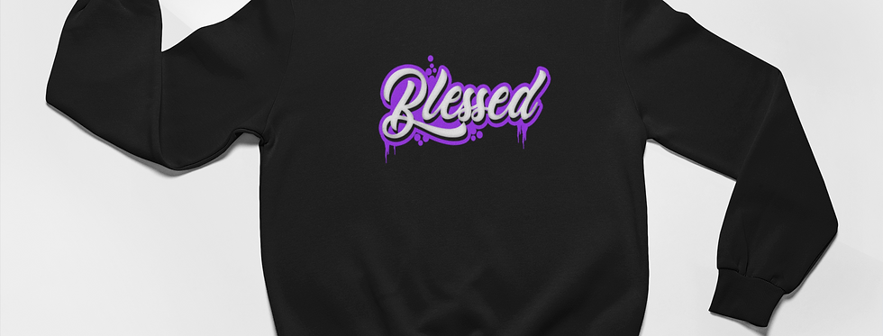 SPRAY PAINT BLESSED SWEATER