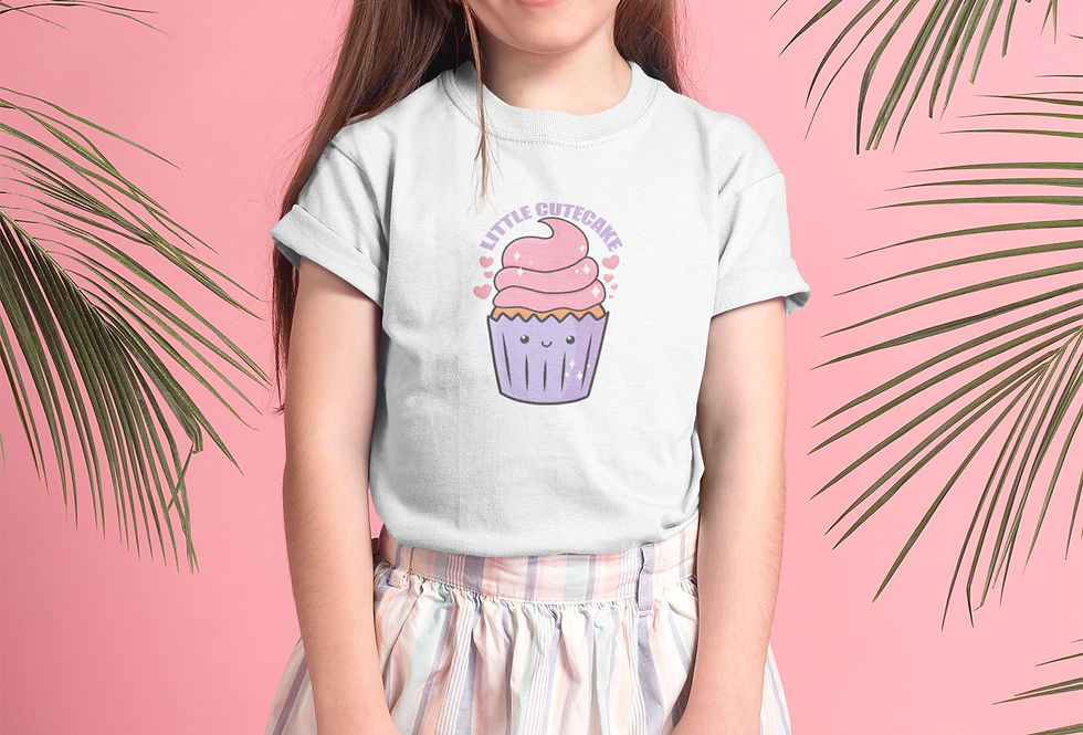 Girl With Little Cutecake Tee