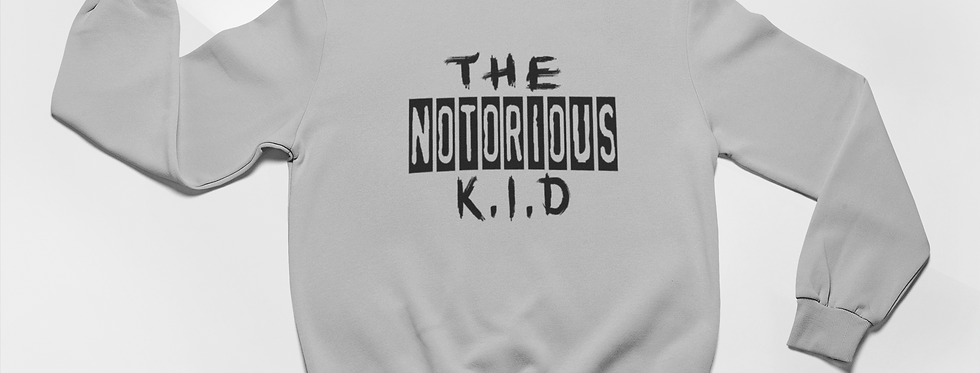 The Notorious Kid Printed Gray Sweater