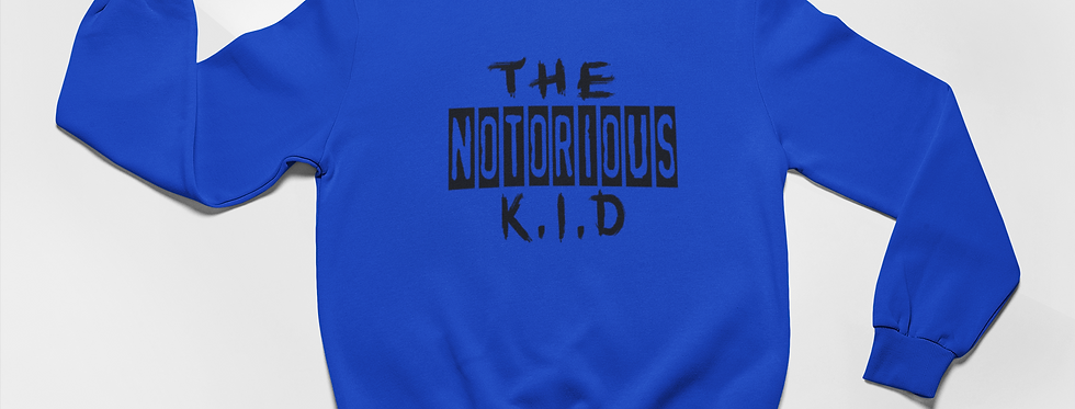 The Notorious Kid Printed Blue Sweater