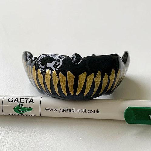 "Customised ""Teeth"" GaetaGuard on front ""VISIBLE"" when worn"