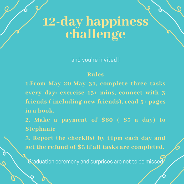 12-day Global Happiness Challenges