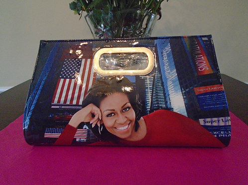 Michelle Obama Clutch Bag/Red