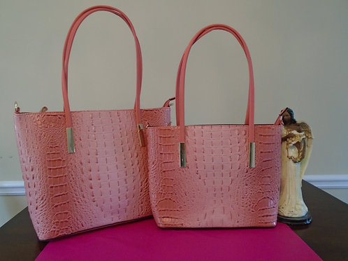 Diva Animal Print Tote 2 In 1/Pink