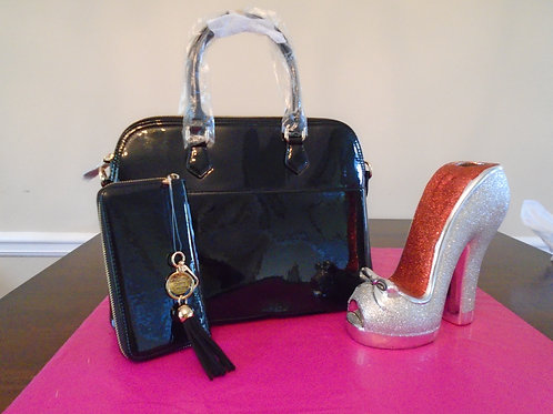 Diva Everyday Handbag With Matching Wallet/Black