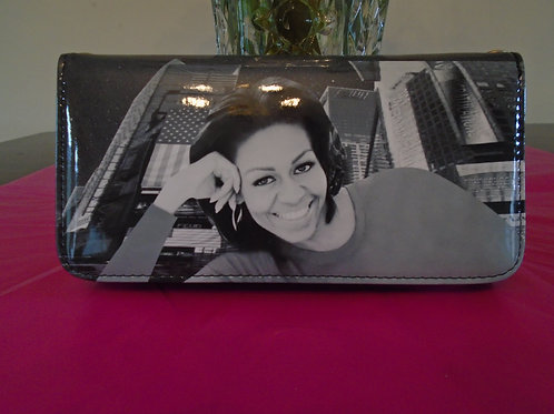 Michelle Obama Black And White Wallet