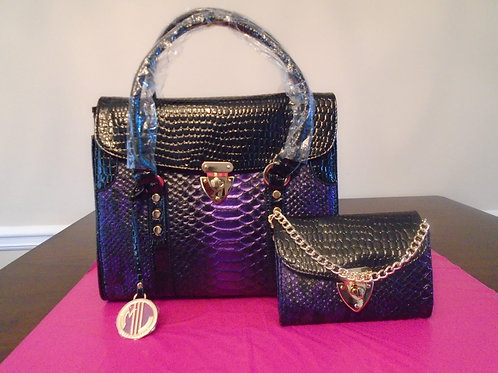 Diva Classy Everyday Handbag With Wallet/Purple