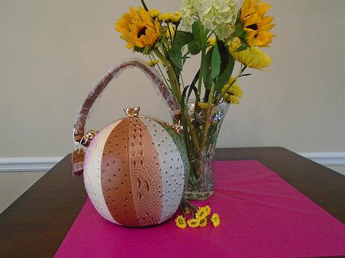 Multi Colored Round Handbag