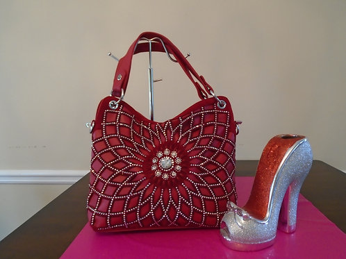 Red Sparkle Handbag