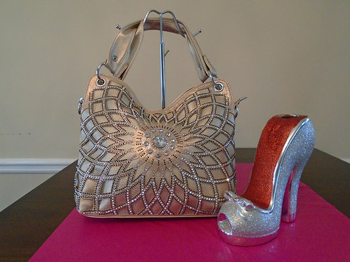 Diva Bling Bling Handbag/Gold