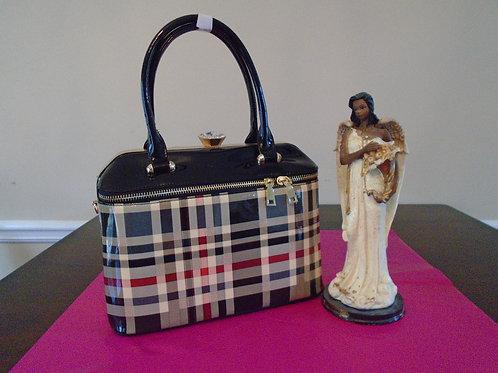 Diva Checkered Everyday Handbag/Black