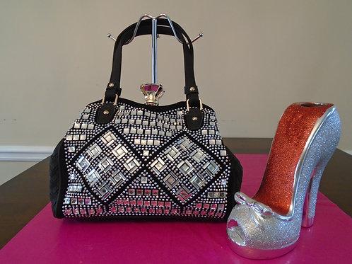 Diva Classy Bling Bling Handbag/Black
