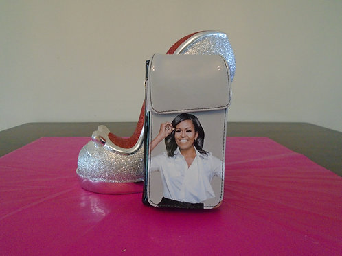 Michelle Obama Cell phone Case/Grey