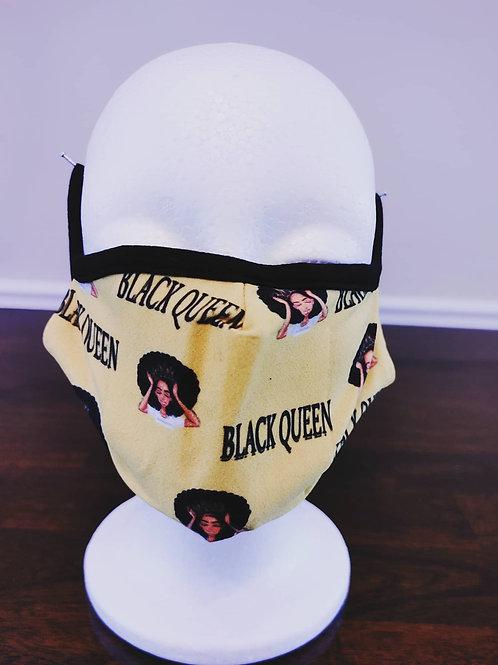 Black Queen Mask/Yellow/Black