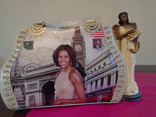 Michelle Obama Dressy Handbag/Creme