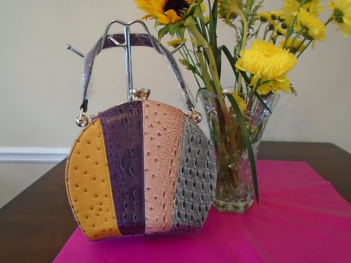 Multi Colored Round Handbag