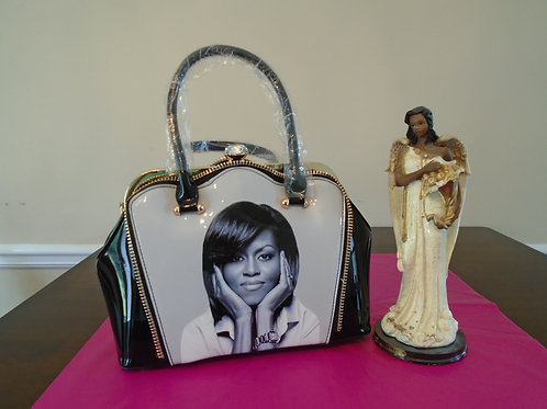 Michelle Obama Everyday Black And White Handbag
