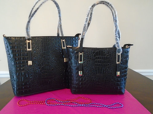 Diva Everyday Tote Bag 2 In 1/Black