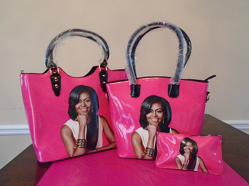 Michelle Obama Tote 2 In 1/Hot Pink