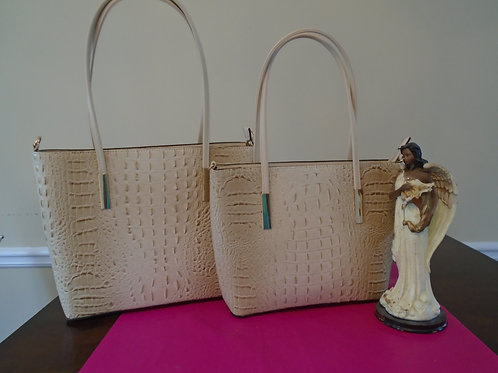 Diva Animal Print Tote 2 In 1/Beige