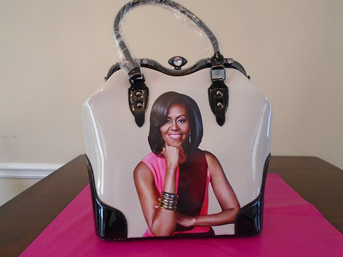 Michelle Obama Classy Handbag/Black And White
