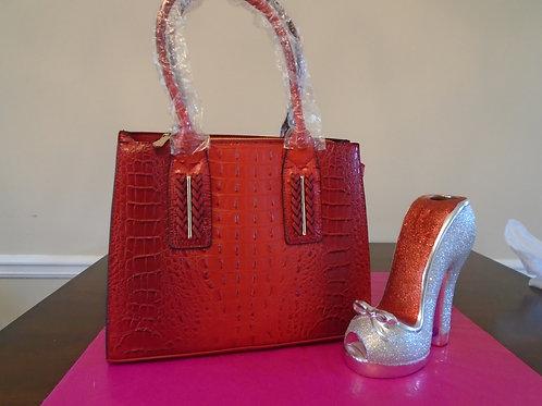 Diva Animal Print Everyday Handbag/Red