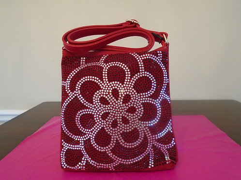 Diva Bling Slingback Purse/Red