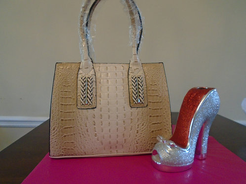 Diva Animal Print Everyday Handbag/Beige