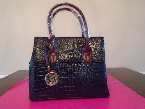Diva Everyday Handbag Black/Burgandy