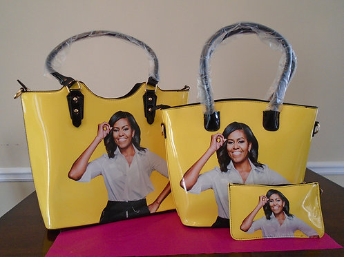 Michelle Obama Tote 2 In 1/Yellow