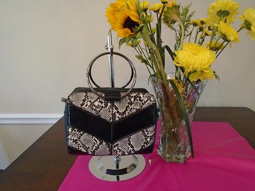 Diva Black Snake Skin Evening Bag