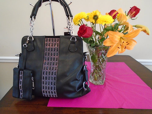Diva Everyday Handbag With Wallet/Black