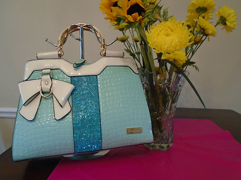 Bow Teal Handbag