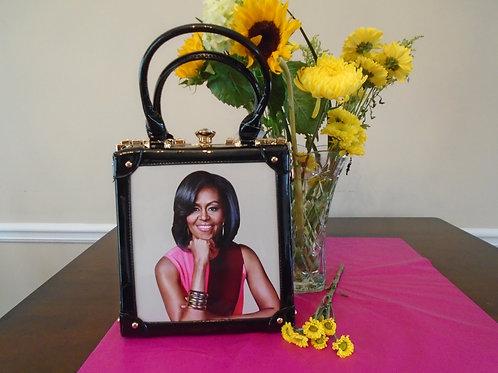 MIchelle Obama Squared Handbag/Black