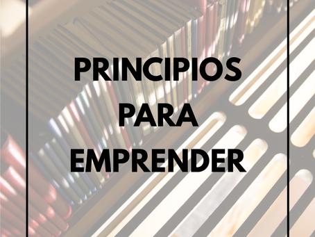 Principios para Emprender