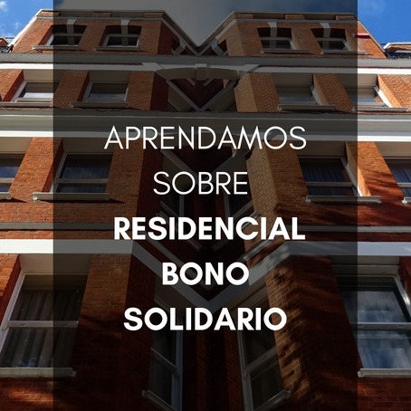 Aprendamos Sobre Residencial Bono Solidario