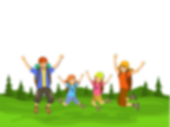family jumping transparent background re