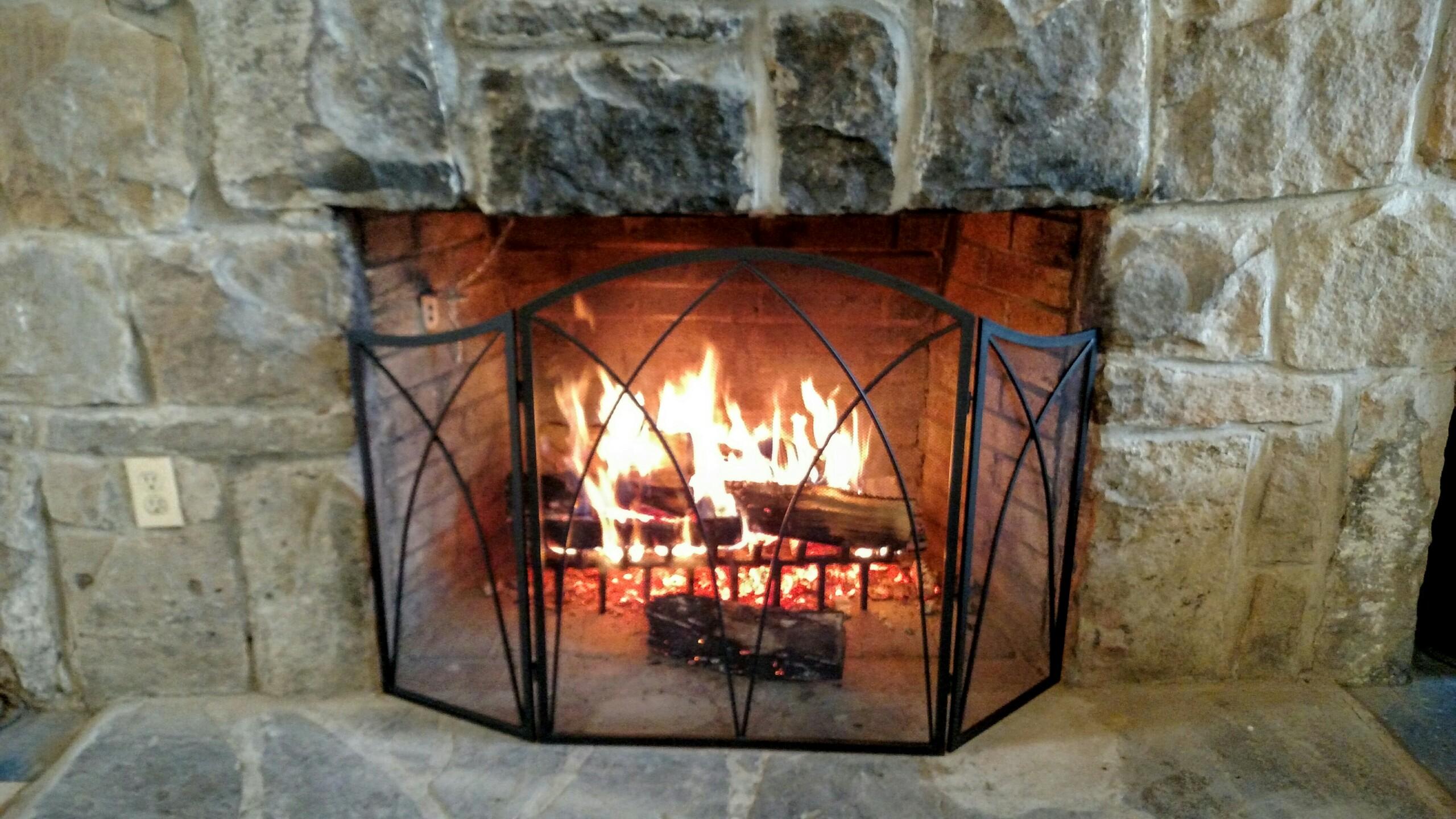 A-frame fireplace