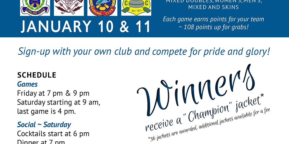 EVENT FULL!  - Durham Continental Cup of Curling