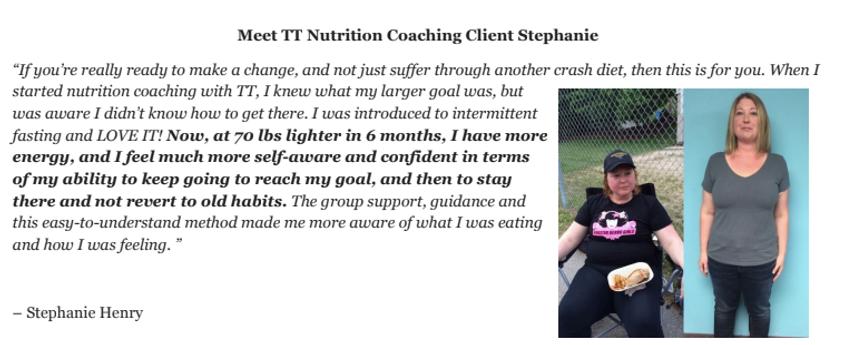 testimonial by stephanie