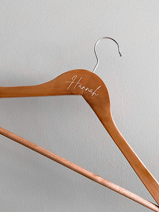 Personalised Bridal Gown Hanger