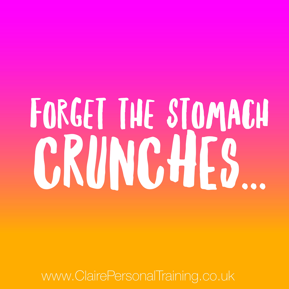 Forget the stomach crunches