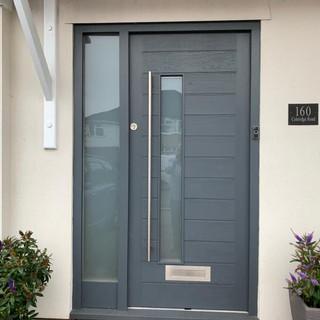 Solid hardwood front door