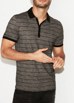 fitted, patterned polo