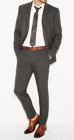 wool knit pant suit